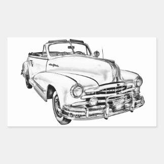 1948 Pontiac Silver Streak Car Illustration Stickers
