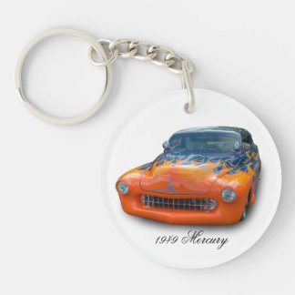 1949 MERCURY Single-Sided ROUND ACRYLIC KEY RING