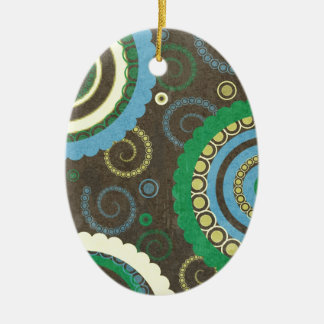 194__retro-circles-paper-pattern YELLOW BROWN BLUE Ornament