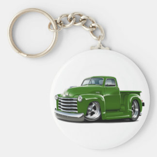 1950-52 Chevy Green Truck Basic Round Button Key Ring