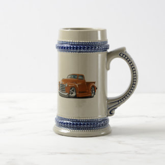 1950-52 Chevy Orange Truck Beer Stein