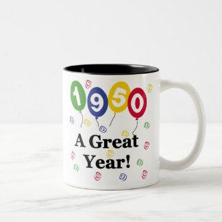 1950 A Great Year Birthday Coffee Mugs