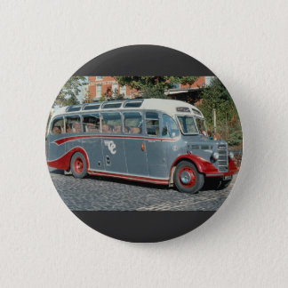 "1950 Bedford duple-bodied """"Vista"""" of Classic Coa 6 Cm Round Badge"