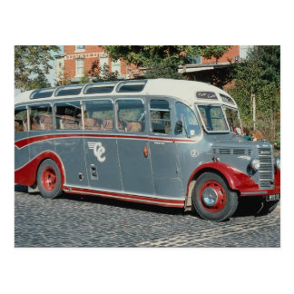 "1950 Bedford duple-bodied """"Vista"""" of Classic Coa Postcard"