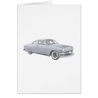 1950 Blue Ford Coupe Greeting Card