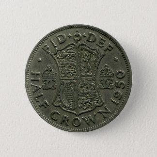 1950 British Half Crown button