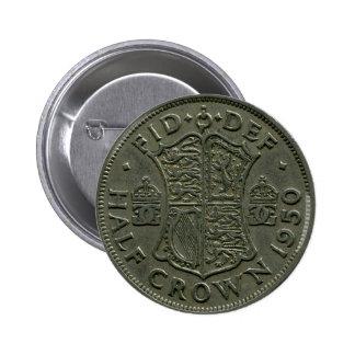 1950 British Half Crown button