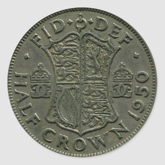 1950 British Half Crown sticker