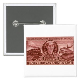 1950 Casey Jones Stamp 15 Cm Square Badge