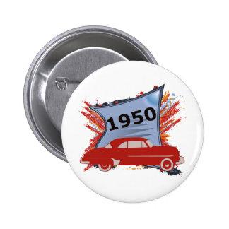 1950 Chevy 6 Cm Round Badge