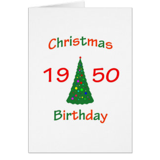 1950 Christmas Birthday Greeting Card
