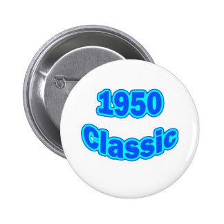 1950 Classic Blue 6 Cm Round Badge