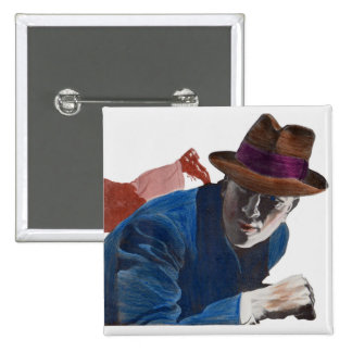 1950 gritty detective action 15 cm square badge