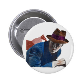 1950 gritty detective action 6 cm round badge