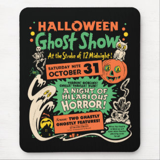 1950 Halloween Ghost Show Mouse Mat