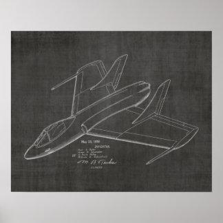 1950 Jet Airplane Patent Art Drawing Print