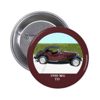 1950 MG TD Button