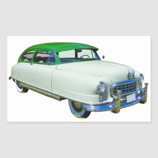 1950 Nash Ambassador Antique Car Rectangular Sticker