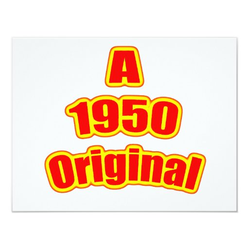 1950 Original Red 11 Cm X 14 Cm Invitation Card