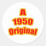 1950 Original Red Round Sticker