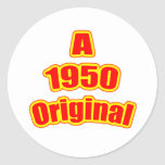 1950 Original Red Round Stickers