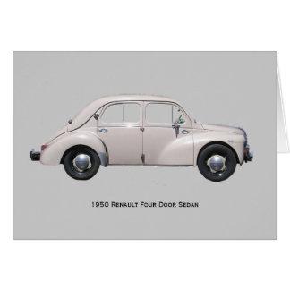 1950 Renault Sedan Greeting Card