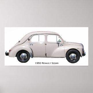 1950 Renault Sedan Poster