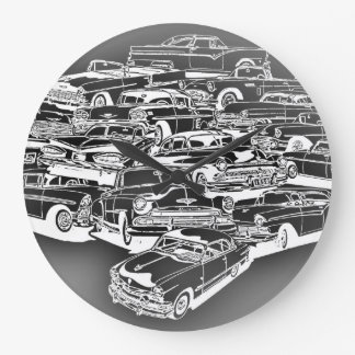 1950 s Classic Cars Clock