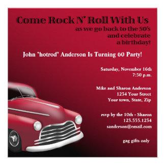 1950 s Hot Rod Birthday Party Invitation