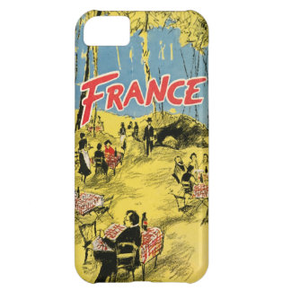 1950 Vintage France Advertisement Yellow Cafe Park iPhone 5C Case