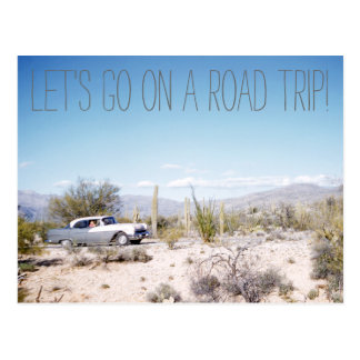 1950'S Arizona Road Trip in the Desert Postcard