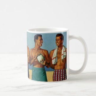 1950s Beach Dudes Basic White Mug