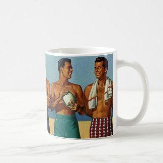 1950s Beach Dudes Classic White Coffee Mug