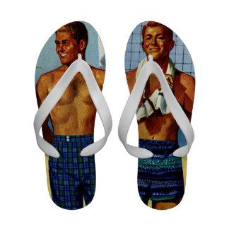 1950s Beach Dudes Flip-Flops