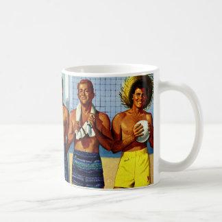 1950s Beach Dudes Mugs