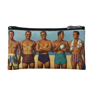 1950s Beach Dudes V2 Cosmetic Bag