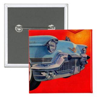 1950s blue Cadillac grille 15 Cm Square Badge