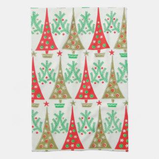 1950s Cartoon Christmas Tree Kitchen Towel