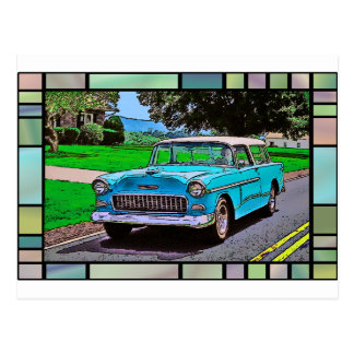 1950's Chevy Bel-Air Nomad Postcard