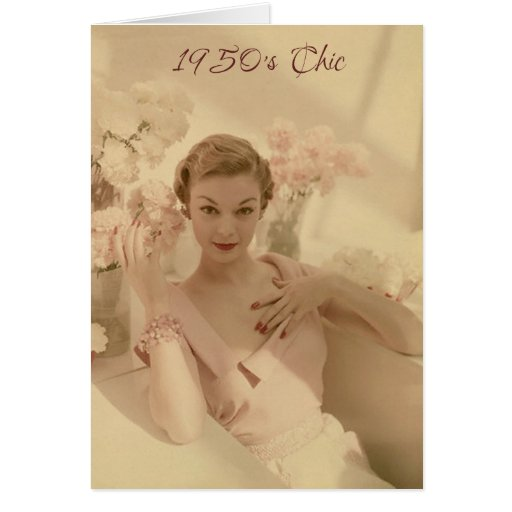 1950's Chic and Still Fabulous Birthday Card