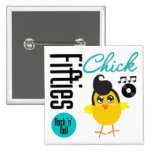 1950s Chick Pinback Buttons
