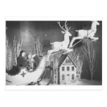 1950's Children on Santa's Sleigh Postcard