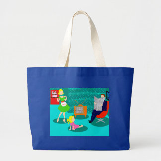 1950's Classic Television Jumbo Tote Bag