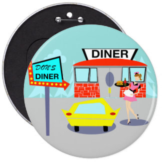 1950's Diner Button