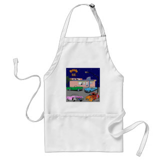 1950s Diner Route 66 and Vintage Cars Standard Apron