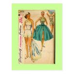 1950s fashion postcard