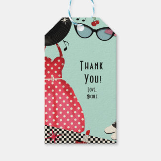 1950's Fifties Dress Up Retro Vintage Party Favor Gift Tags