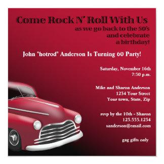 1950's Hot Rod Birthday Party Invitation
