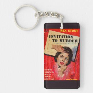 1950s Invitation to Murder Key Ring