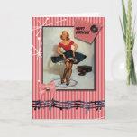 1950s jiving pin up girl cards